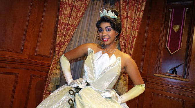Princess Aurora and Tiana join the Princess Fairytale Hall lineup in the Magic Kingdom