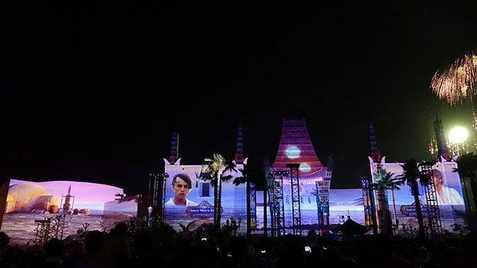 Star Wars A Galactic Spectacular Fireworks Dessert Party at Hollywood Studios in Walt Disney World (77)