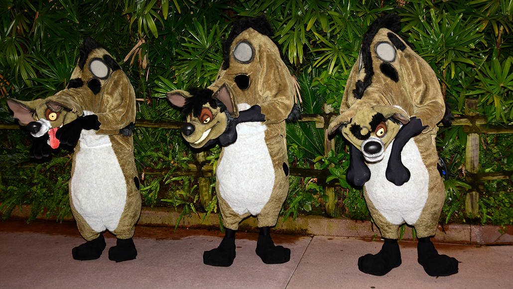 Lion King Hyenas at Villains Unleashed at Hollywood Studios August 2014