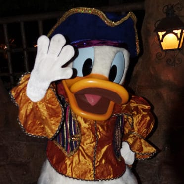 Pirate Donad Duck at Disneyland Mickey's Halloween Party 2015