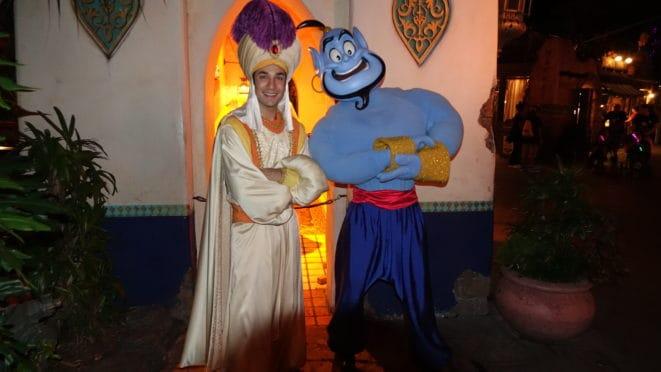 Prince Ali and Genie Disneyland Mickey's Halloween Par