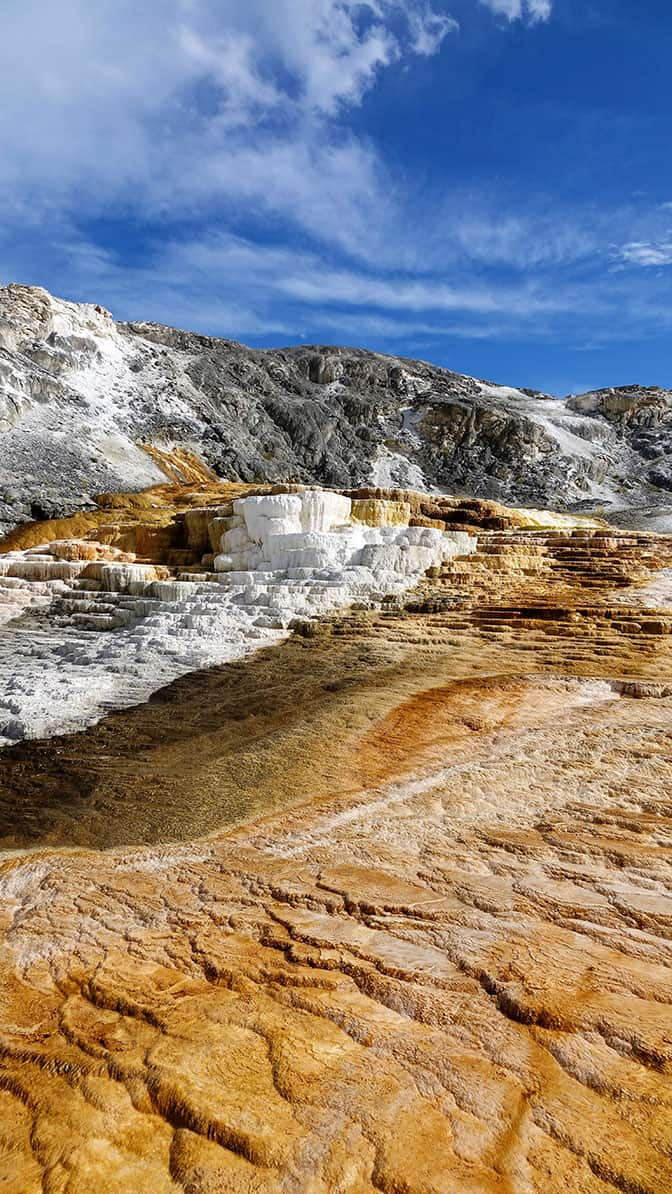 Yellowstone Day 2 Mammoth Hot Springs Terraces