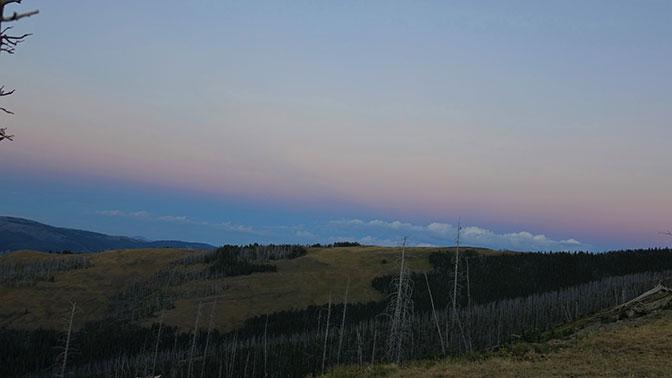 Yellowstone Day 5 Mount Washburn Sunset