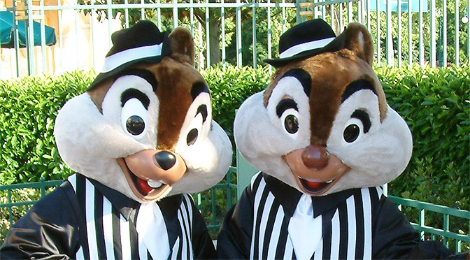 Worldwide Wednesday:  Chip n Dale as Gangsters