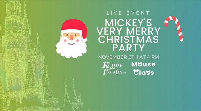 Free Live Webinar for Mickey's Very Merry Christmas Party is coming VERY soon!
