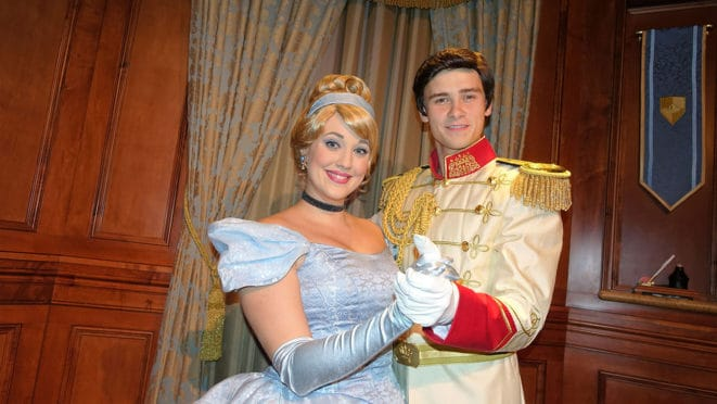 Cinderella and Prince Charming at Mickey's Very Merry Christmas Party 2016