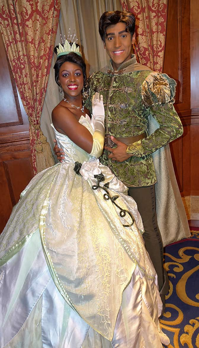 Princess Tiana and Naveen at Mickey's Very Merry Christmas Party 2016