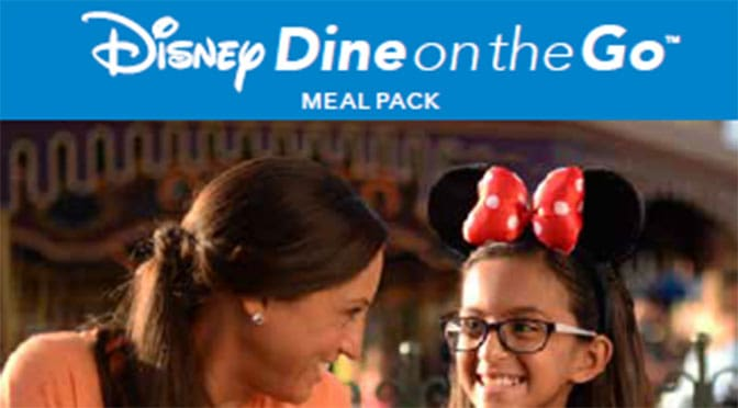 "Magic Kingdom offering ""Disney Dine on the Go"" meal option"