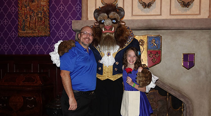 Be Our Guest Dinner and Beast meet and greet