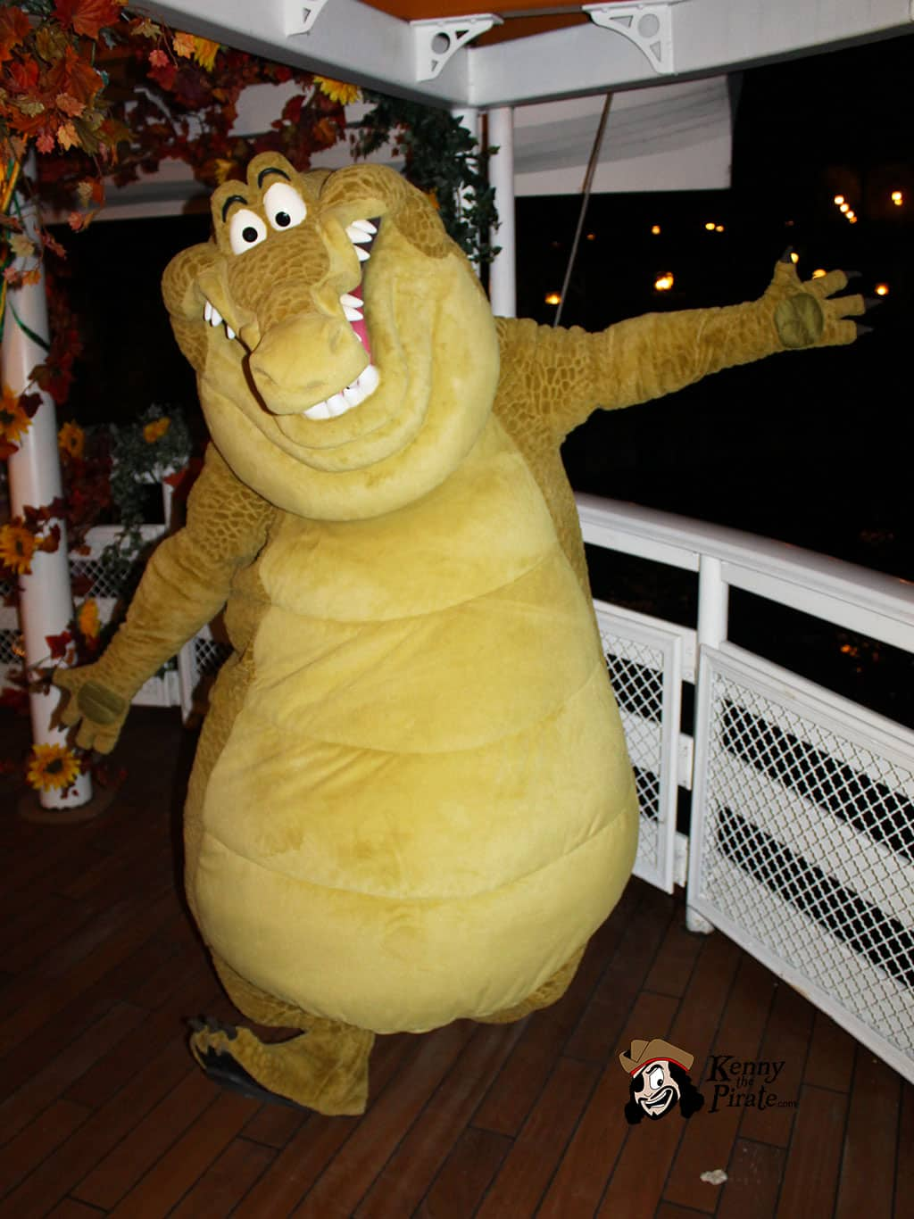 Louis the Alligator from Princess and the Frog at Disneyland Paris