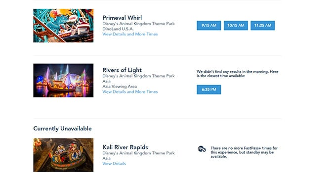 Rivers of Light Fastpass+ now available