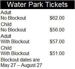 Walt Disney World Water Park Prices 2017