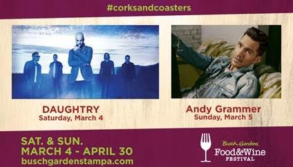 Busch Gardens kicks off Food and Wine Festival with Daughtry and Andy Grammer