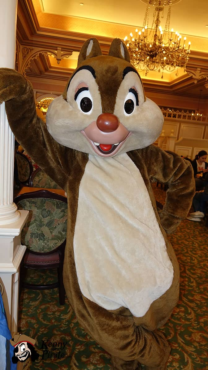 Dale at Minnie and Friends Breakfast in the Park at the Plaza Inn Disneyland