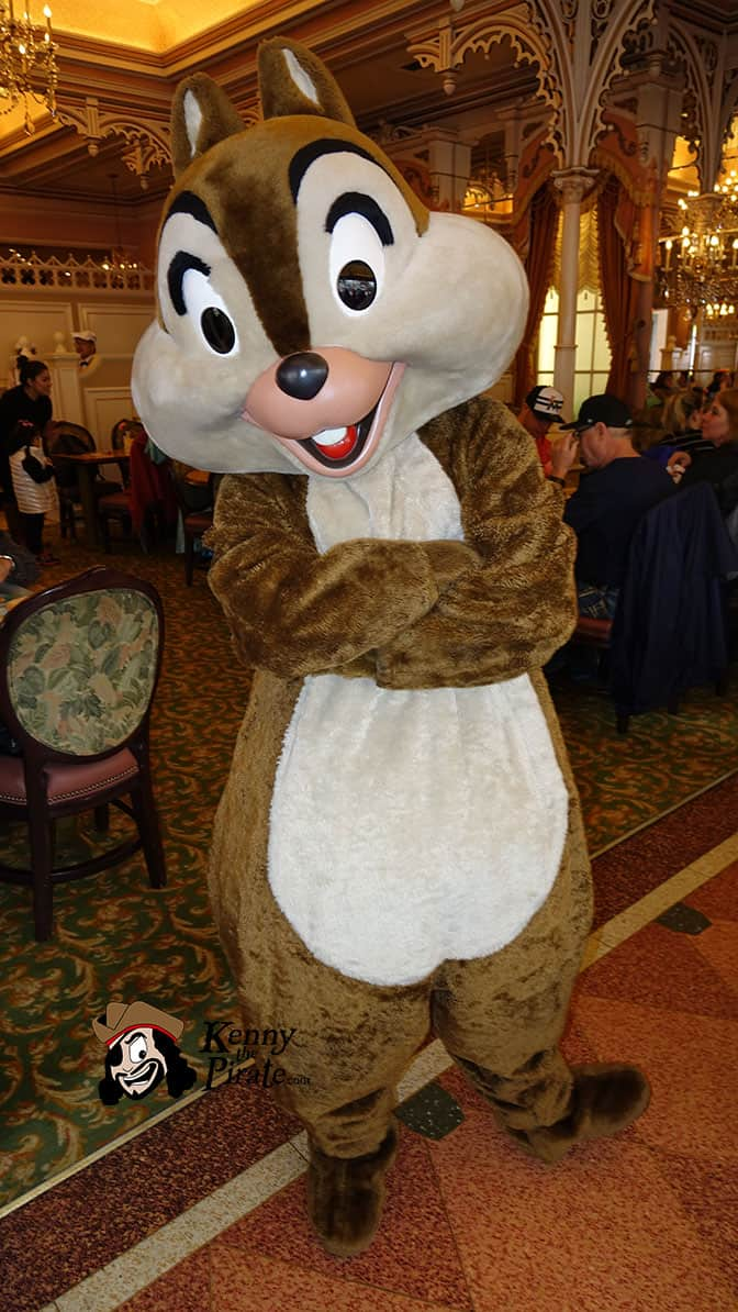 Chip at Minnie and Friends Breakfast in the Park at the Plaza Inn Disneyland
