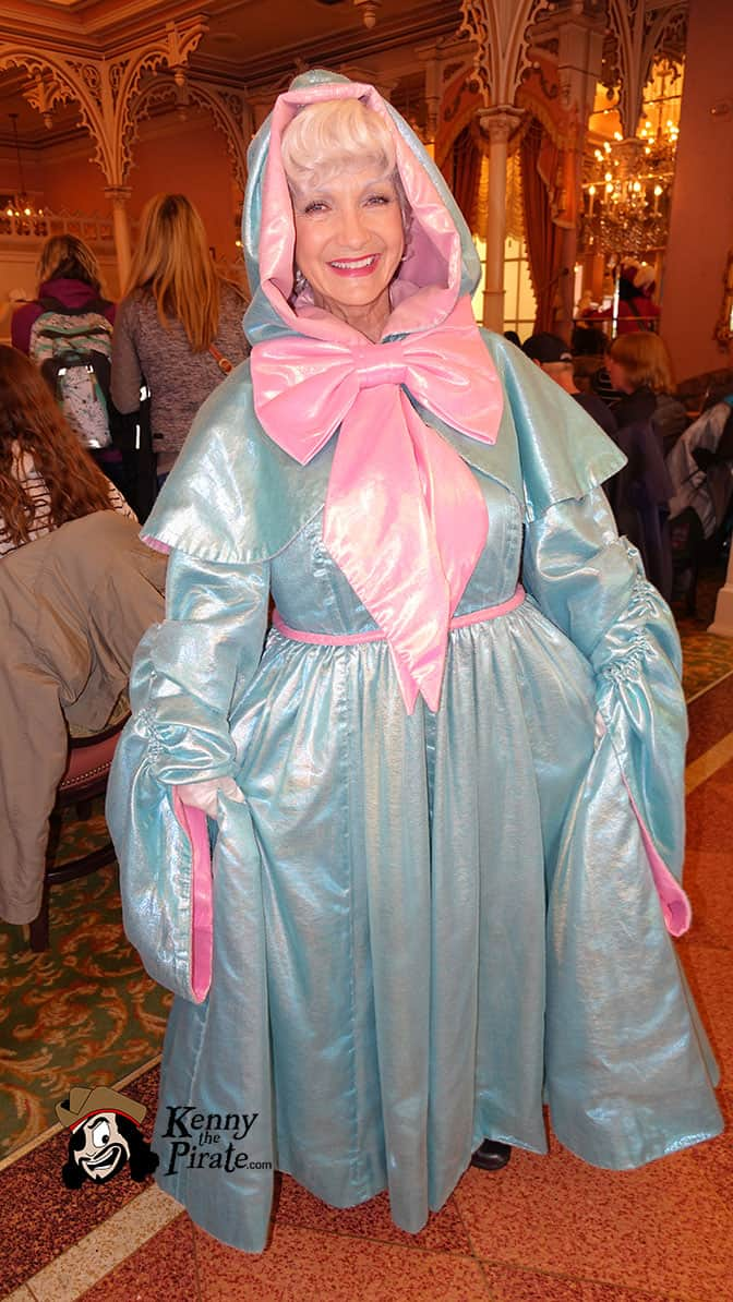 Fairy Godmother at Minnie and Friends Breakfast in the Park at the Plaza Inn Disneyland