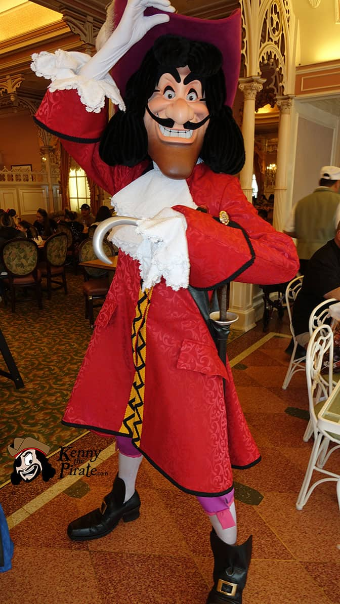 Captain Hook at Minnie and Friends Breakfast in the Park at the Plaza Inn Disneyland