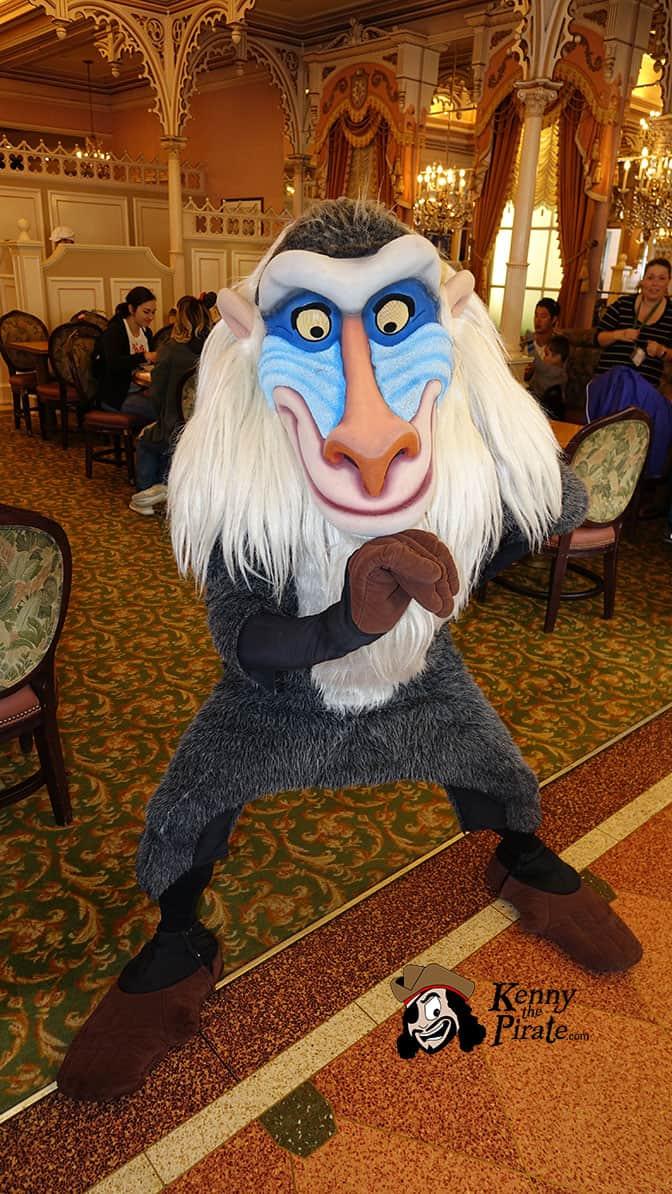 Rafiki at Minnie and Friends Breakfast in the Park at the Plaza Inn Disneyland