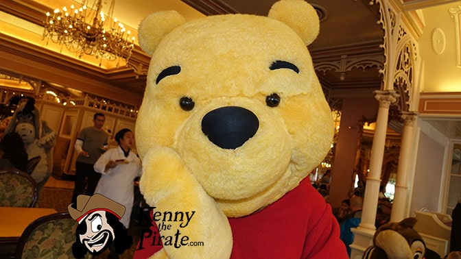 Winnie the Pooh at Minnie and Friends Breakfast in the Park at the Plaza Inn Disneyland