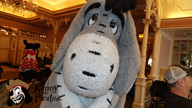 Eeyore at Minnie and Friends Breakfast in the Park at the Plaza Inn Disneyland
