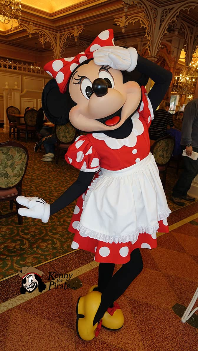 Minnie Mouse at Minnie and Friends Breakfast in the Park at the Plaza Inn Disneyland