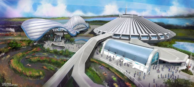 The new Tron attraction will sit in an entirely new area right next to the Space Mountain attraction at Magic Kingdom Park. Bob Chapek, Chairman of Walt Disney Parks & Resorts, made the announcement during the Walt Disney World Parks and Resorts presentation at D23 Expo 2017. Regular Disney Parks Blog readers know that the TRON Lightcycle Power Run attraction at Shanghai Disneyland is a coaster-style attraction where riders board a train of two-wheeled Lightcycles. It offers access into the energy, lights and excitement of TRON's high-tech universe and is one of the most thrilling adventures at any Disney park. Also, during today's presentation, Bob said the plan is to open the Tron attraction in time for Walt Disney World's 50th anniversary in 2021. Keep checking the Disney Parks Blog for more updates on this future attraction.