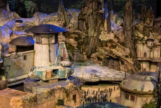 Disney Reveals First Look at Star Wars Land Model