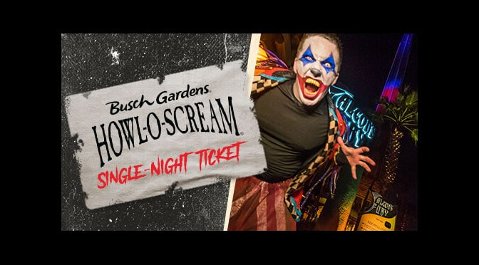 Get Busch Gardens Howl O Scream Tickets For Only If Purchased This Week