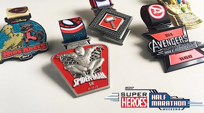 2017 Super Heroes Half Marathon Weekend Medals