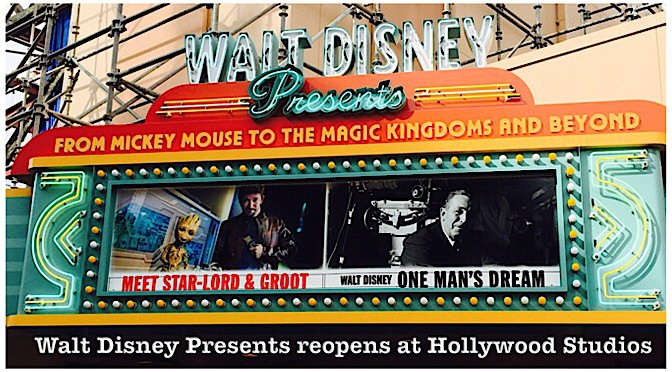 Walt Disney Presents reopens at Hollywood Studios