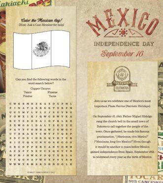 Celebrate Fiestas Patrias September 16th in Epcot's Mexico Pavilion