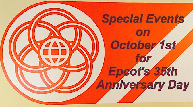Special Events on October 1st for Epcot's 35th Anniversary Day