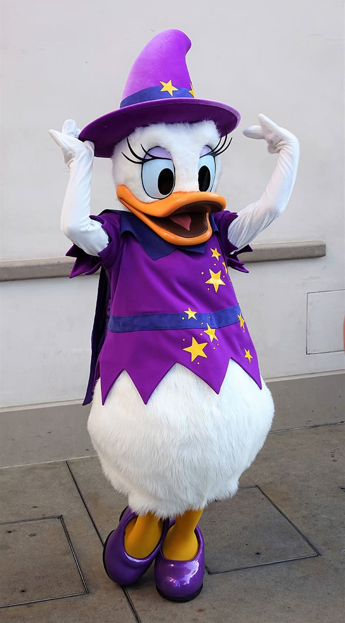 Disneyland Halloween Time Daisy Duck Witch California ...