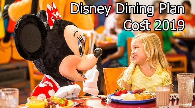 Disney Dining Plan Cost 2019