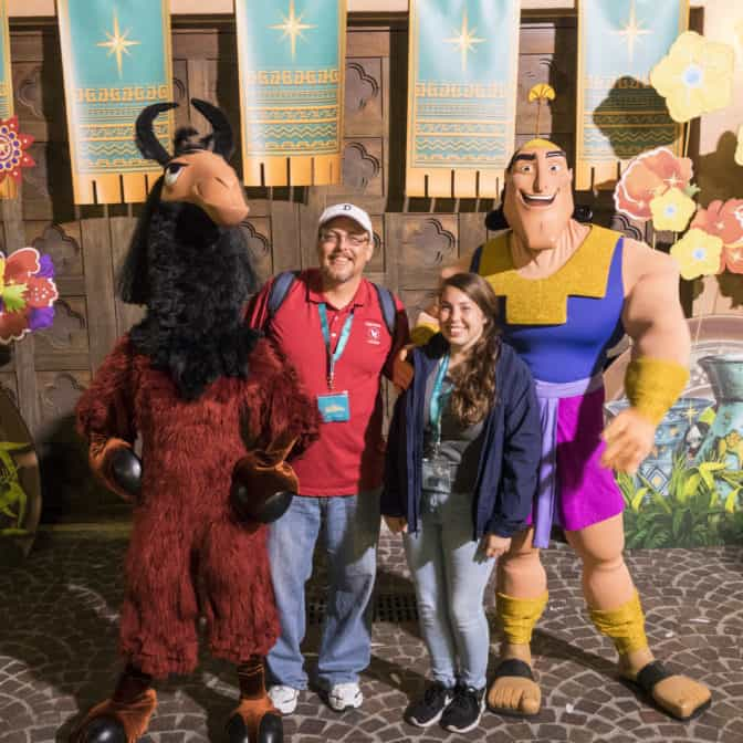 Kuzco and Kronk at Fandaze in Disneyland Paris 2018
