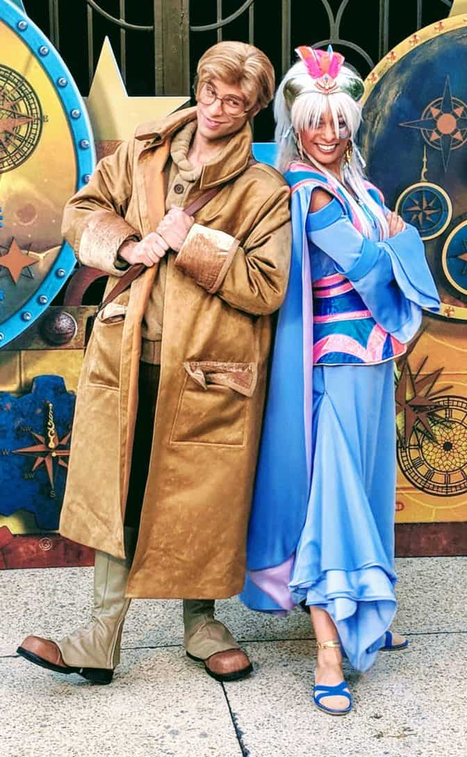 Milo and Kida from Atlantis at Fandaze in Disneyland Paris 2018 (2)