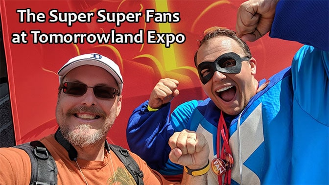 Super Super Fans at the Tomorrowland Expo in Magic Kingdom
