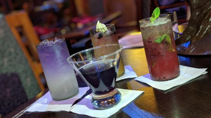 Artist Point Storybook Dining at Disney's Wilderness Lodge Drinks