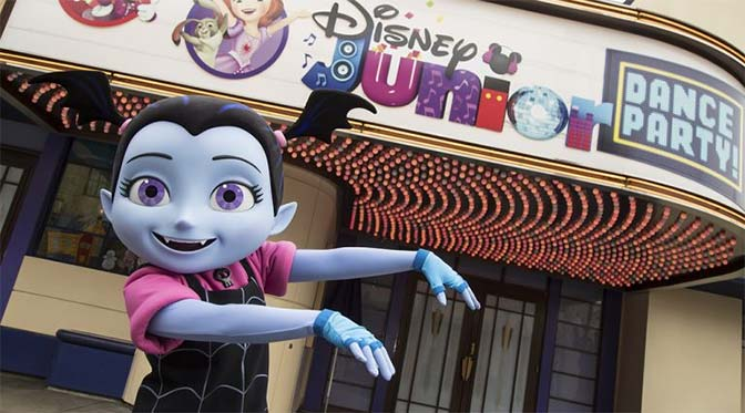Vampirina now part of Disney Junior Dance Party at Disney California Adventure Park