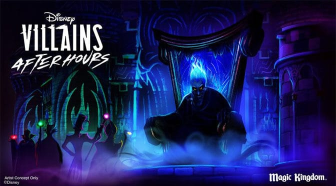 Actual dates for Villains After Hours at the Magic Kingdom this summer