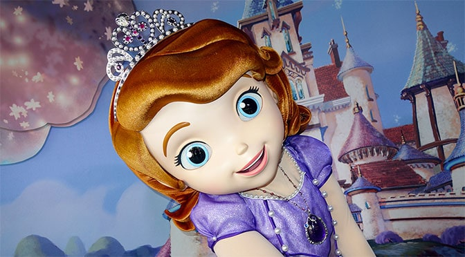 Sofia the First character leaving Disney's Hollywood Studios