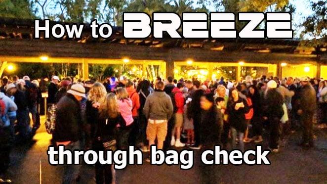 How to breeze through Disney World bagcheck