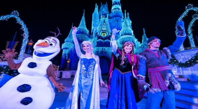 A Frozen Holiday Wish Castle Lighting Show Returns For 2019!