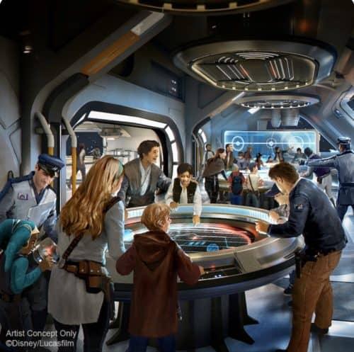 Star Wars Galactic Starship bridge