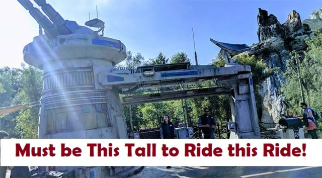 Height Restrictions Posted for Rise of the Resistance