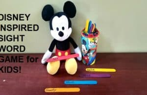 Disney Sight Word Game for Kids