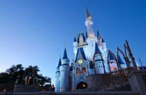 Cinderella Castle Refurbishment Begins, High Reach Cranes Installed