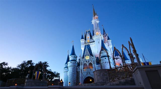 Cinderella Castle Refurbishment Begins, High Reach Cranes Installed