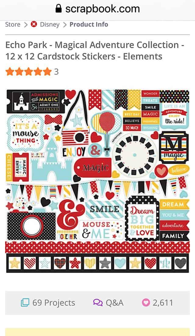 disney themed scrapbook