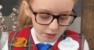 Adorable Little Girl Pretends to be Disney Cast Member
